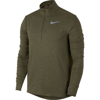 Nike Sphere Laufshirt Herren olive-canvas-heather-reflective-silver
