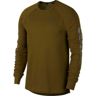 Nike Miler Waffle Laufshirt Herren olive-flak-reflective-silver