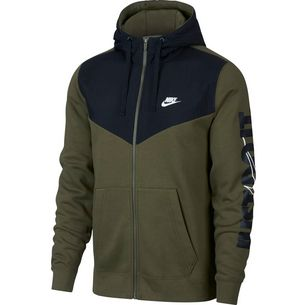 Nike NSW HBR FLC Sweatjacke Herren olive-canvas-black-white