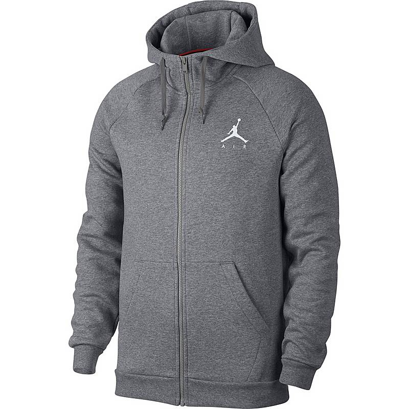 3fdb028506fd Nike Jumpman Fleece FZ Sweatjacke Herren carbon heather im Online ...