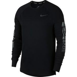 Nike Miler Waffle Laufshirt Herren black-reflective-silver