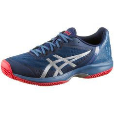 ASICS GEL-COURT SPEED CLAY Tennisschuhe Herren azure-blue print