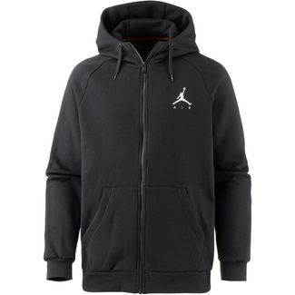 Nike Jumpman Fleece FZ Sweatjacke Herren black-white