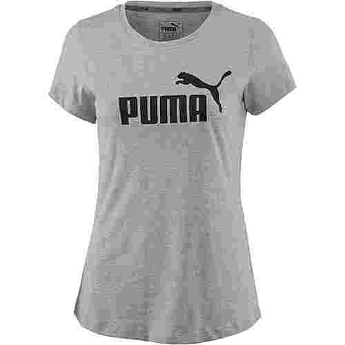 PUMA Essential Logo T-Shirt Damen light gray heather