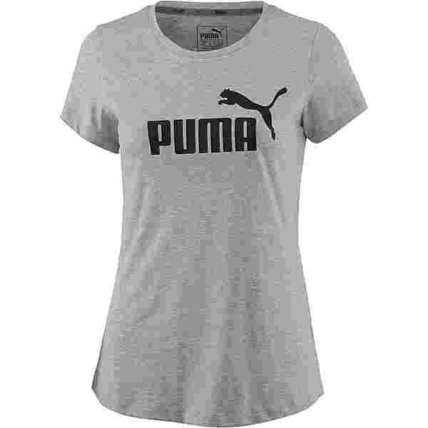 PUMA Essential Logo T-Shirt Damen light gray heather