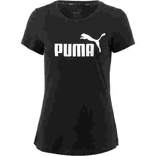 PUMA Essential Logo T-Shirt Damen cotton black