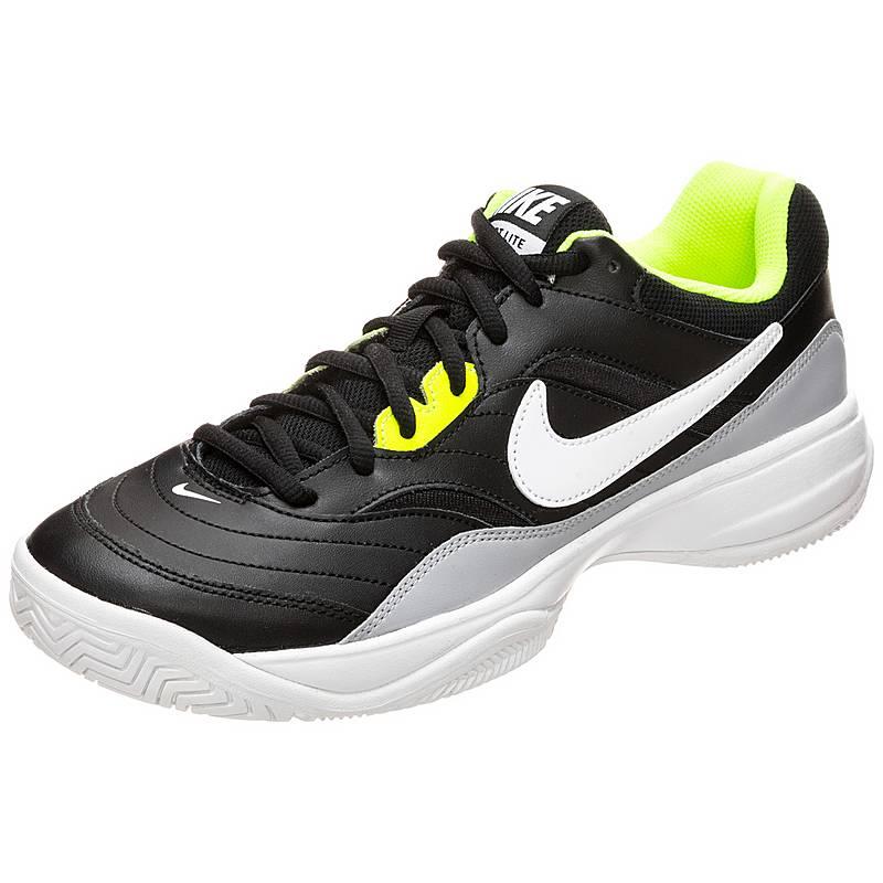 sports shoes 55706 648f3 Nike Court Lite Tennisschuhe Herren schwarz  neongelb