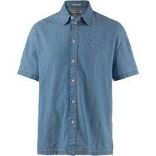 Tommy Jeans Kurzarmhemd Herren mid indigo