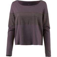 Reebok Mesh Langarmshirt Damen almost grey