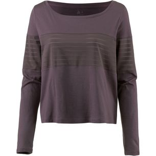 Reebok Mesh Langarmshirt Damen almost grey