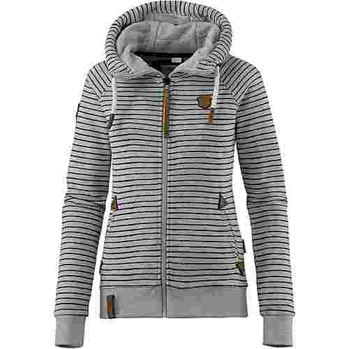 naketano nasenhaarwickler sweatjacke damen grey melange im online shop von sportscheck kaufen. Black Bedroom Furniture Sets. Home Design Ideas