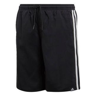 adidas 3-Streifen Badeshorts Funktionsshorts Kinder Black / Cloud White