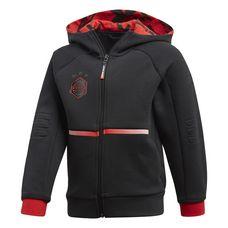 adidas Star Wars Cover Hoodie Kinder Black / Vivid Red