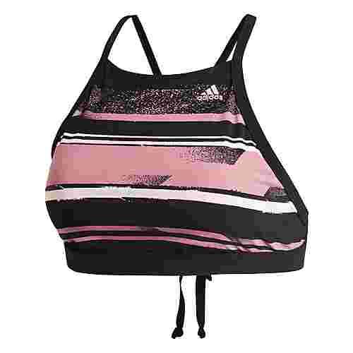 adidas Amphi Halter Top Bikini Oberteil Damen Trace Maroon / Black