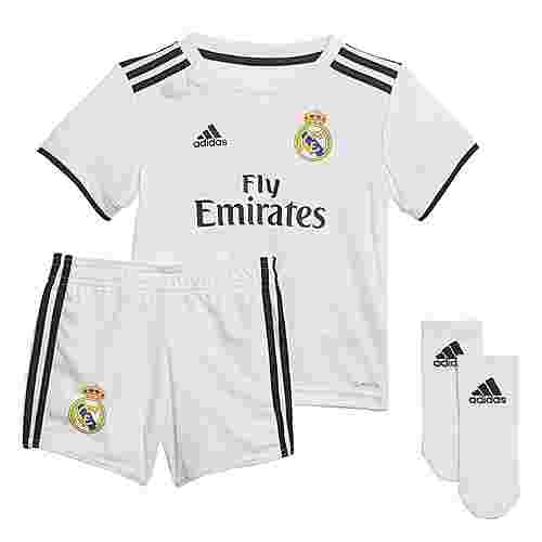 adidas Real Madrid Trainingsjacke Kinder Core White / Black
