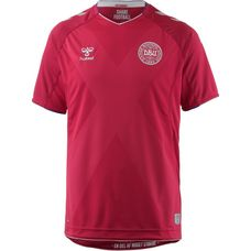 hummel Dänemark 2018 Heim Fußballtrikot Herren tango red