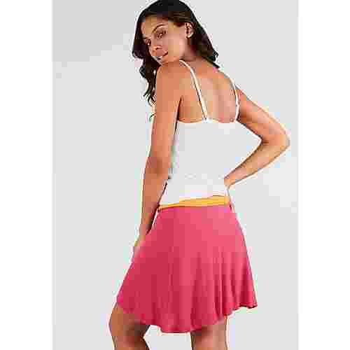 BEACH TIME Trägerkleid Damen weiß-orange-pink