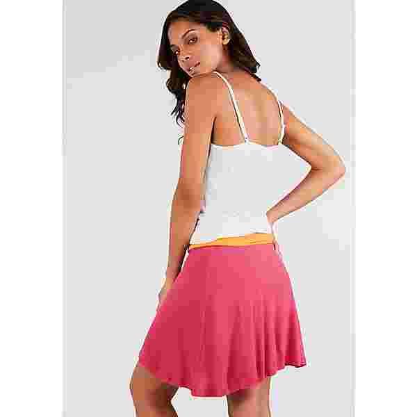 BEACH TIME Kleid Damen weiß-orange-pink