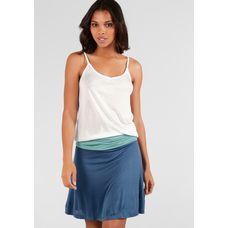 BEACH TIME Trägerkleid Damen weiß-türkis-blau