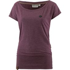 Naketano Wolle T-Shirt Damen bordeaux-melange