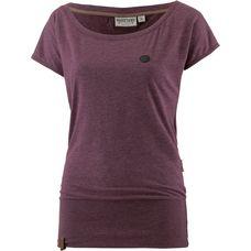 Naketano Wolle T-Shirt Damen bordeaux-melange