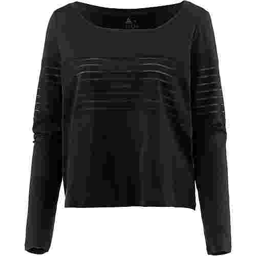 Reebok Mesh Langarmshirt Damen black