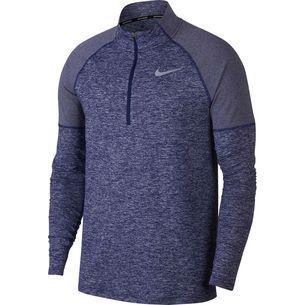 Nike Element Laufshirt Herren blue-void-htr-reflective-silver