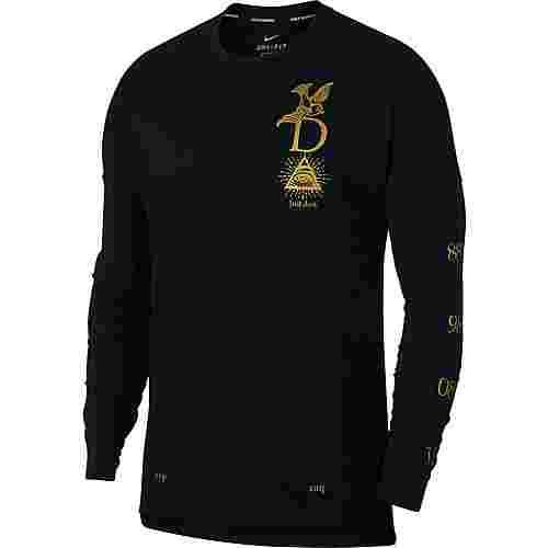 Nike Tailwind Laufshirt Herren black-reflect-gold