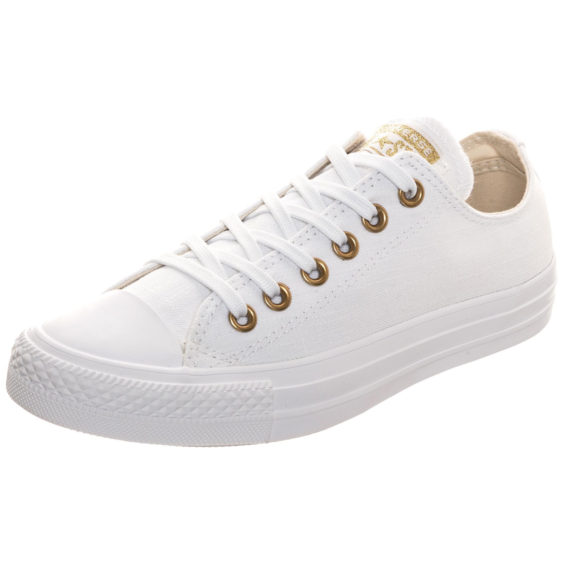 CONVERSE Chuck Taylor All Star Sneaker Damen weiß / gold im Online Shop von SportScheck kaufen