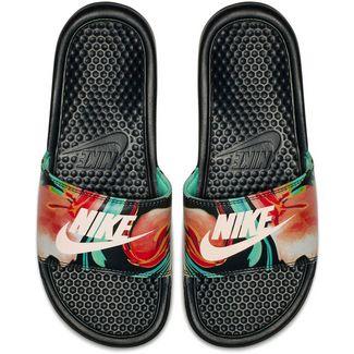 Nike Slides BENASSI Badelatschen Damen black-crimson tint-green glow