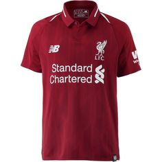 NEW BALANCE FC Liverpool 18/19 Heim Fußballtrikot Kinder red pepper