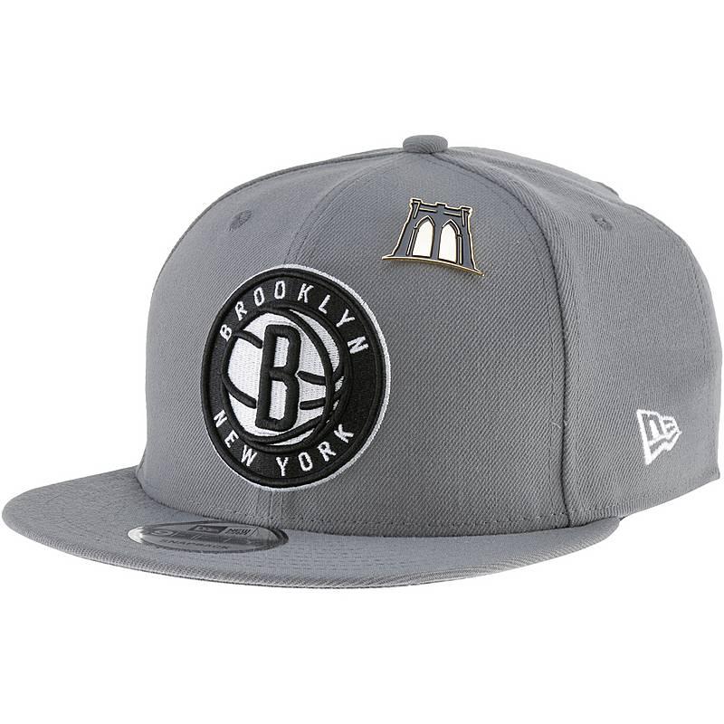63e15b83b47 New Era 9FIFTY Brooklyn Nets Cap storm grey im Online Shop von ...