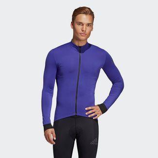 adidas Climaheat Cycling Winter Trikot Langarmshirt Herren Blue / Energy Ink