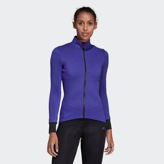 adidas Climaheat Cycling Winter Trikot Langarmshirt Damen Energy Ink
