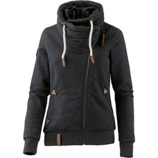 Naketano Jedi Path Sweatjacke Damen anthracite-melange