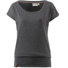 Naketano Wolle T-Shirt Damen anthracite-melange
