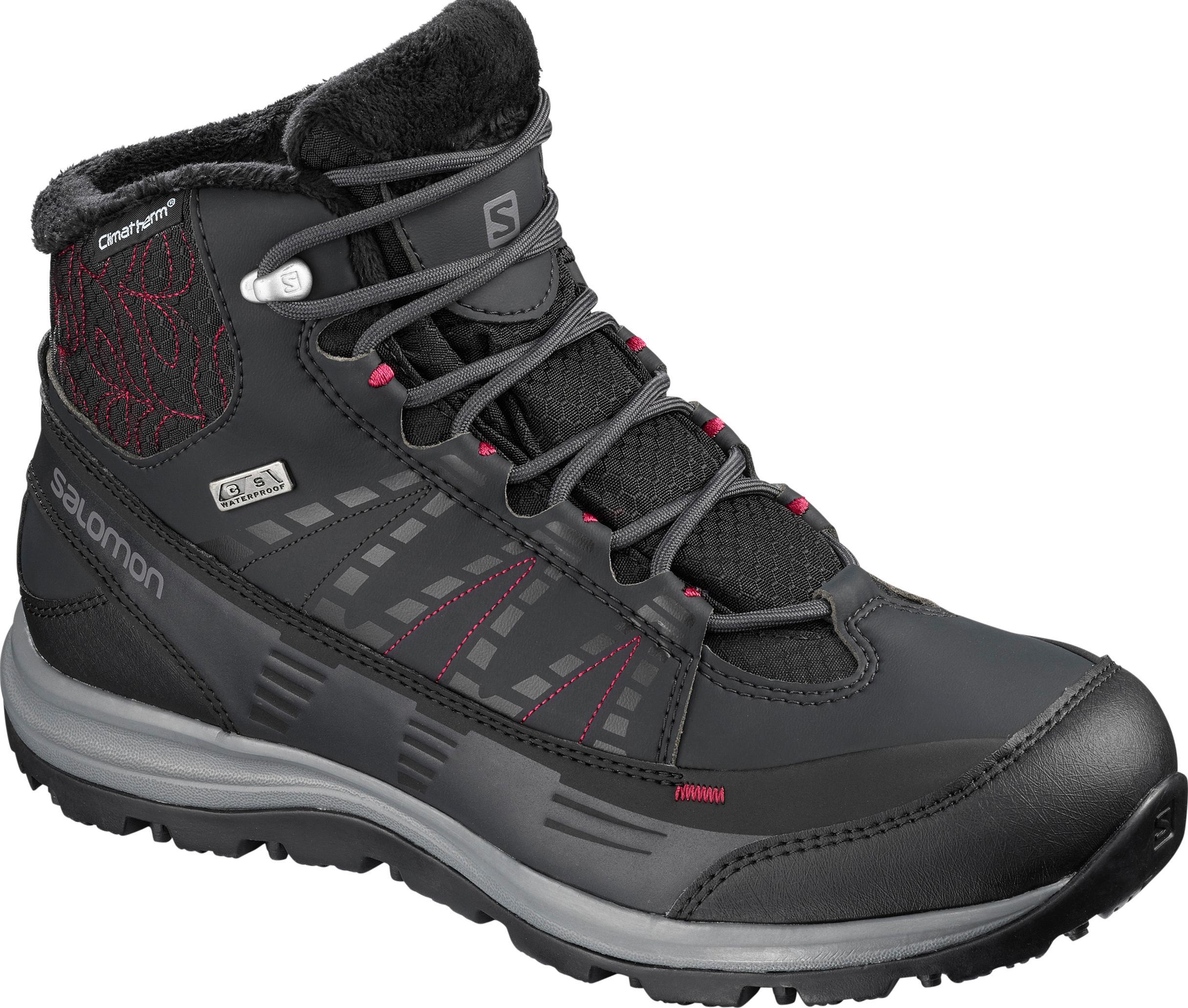 Salomon Kaina CS WP 2 Winterschuhe Damen phantom-schwarz-beet ROT im Online Shop von SportScheck kaufen Gute Qualität beliebte Schuhe