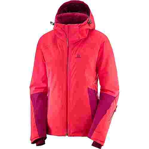 Salomon ICECRYSTAL Skijacke Damen hibiscus-cerise