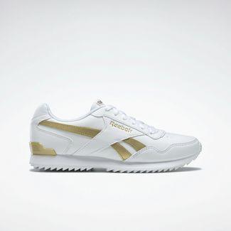 Reebok Reebok Royal Glide RPL Clip Sneaker Damen White / White / Gold Met