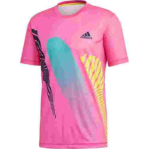 adidas SEASONAL TEE Tennisshirt Herren shock pink