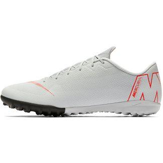 Nike MERCURIAL VAPORX 12 ACADEMY TF Fußballschuhe wolf grey-lt crimson-pure platinum-mtlc silver
