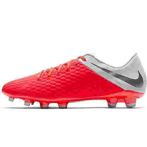 Nike HYPERVENOM 3 ACADEMY FG Fußballschuhe lt crimson-mtlc dk grey-wolf grey-mtlc silver