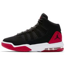 Nike JORDAN MAX Sneaker Kinder black-gym red-white