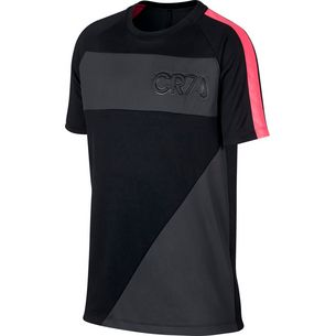 Nike CR7 Funktionsshirt Kinder black-anthracite-hot punch-anthracite