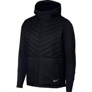 Nike Arolyr Laufjacke Herren black-black-atmosphere-grey-reflective-silver