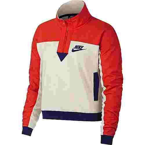 Nike Polar Sweatshirt Damen light cream-habanero red-regency purple