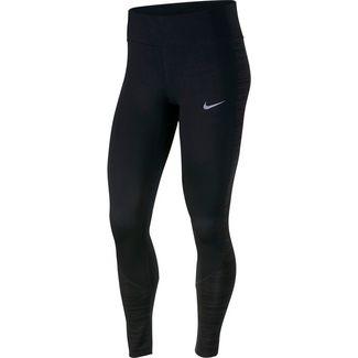 Nike Racer Laufhose Damen black/reflective silver