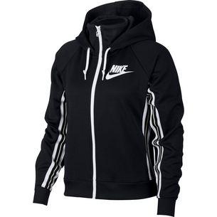 Nike Sweatjacke Damen black-light bone-white