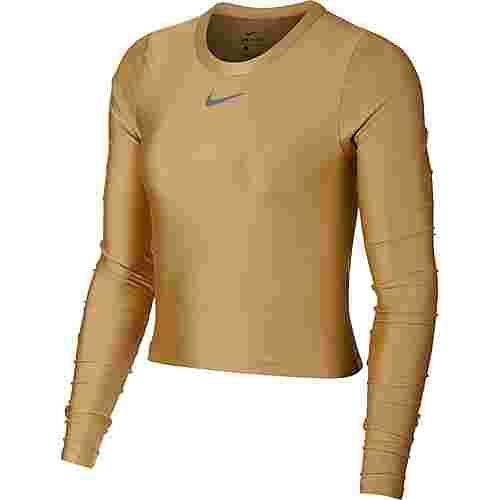 Nike Speed Laufshirt Damen club gold/reflective silver