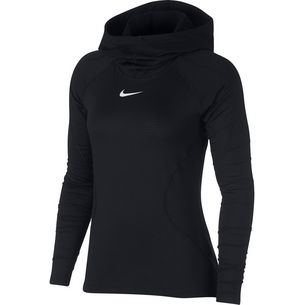 Nike Pro Hyperwarm Hoodie Damen black/white